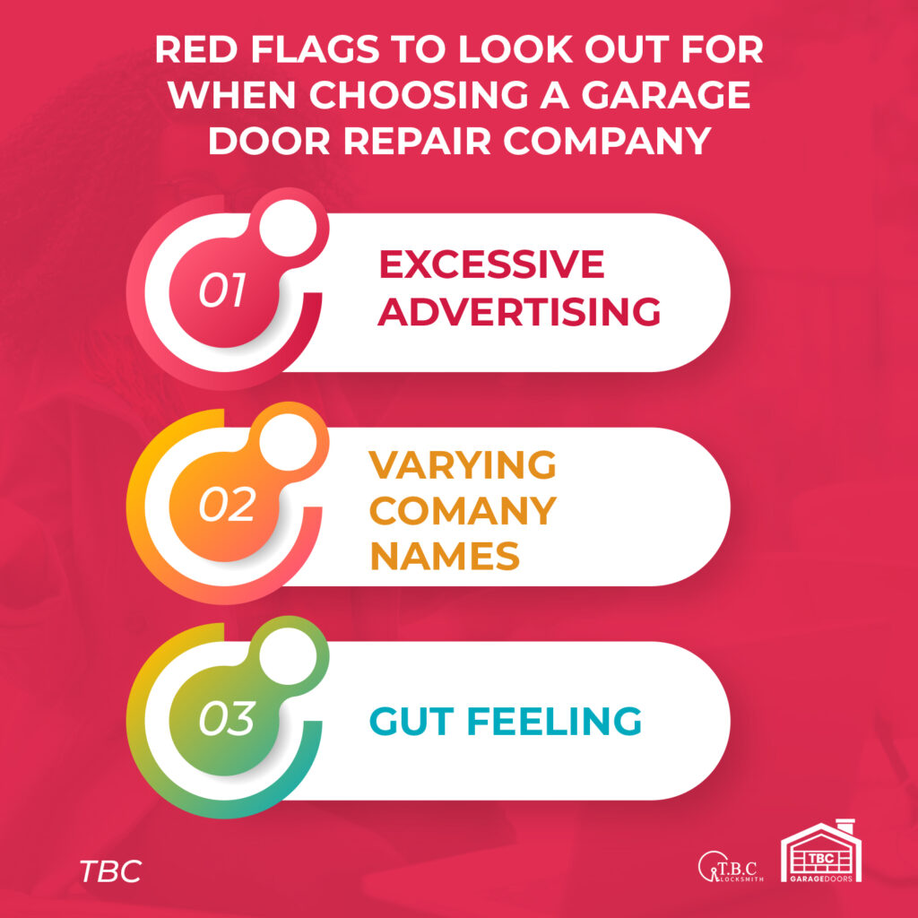 Red Flags to Look Out For When Choosing a Garage Door Repair Company