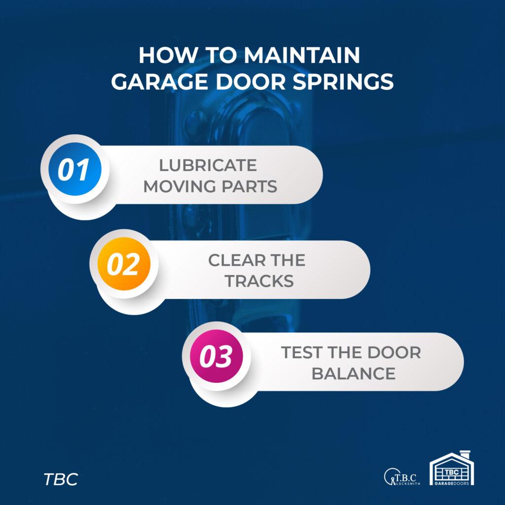 How to Maintain Garage Door Springs