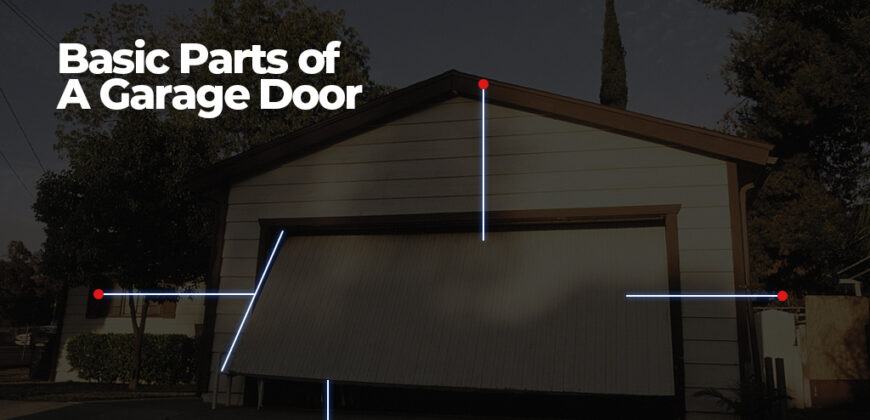 Basic parts of a garage door