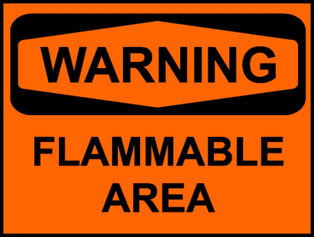 flammable object